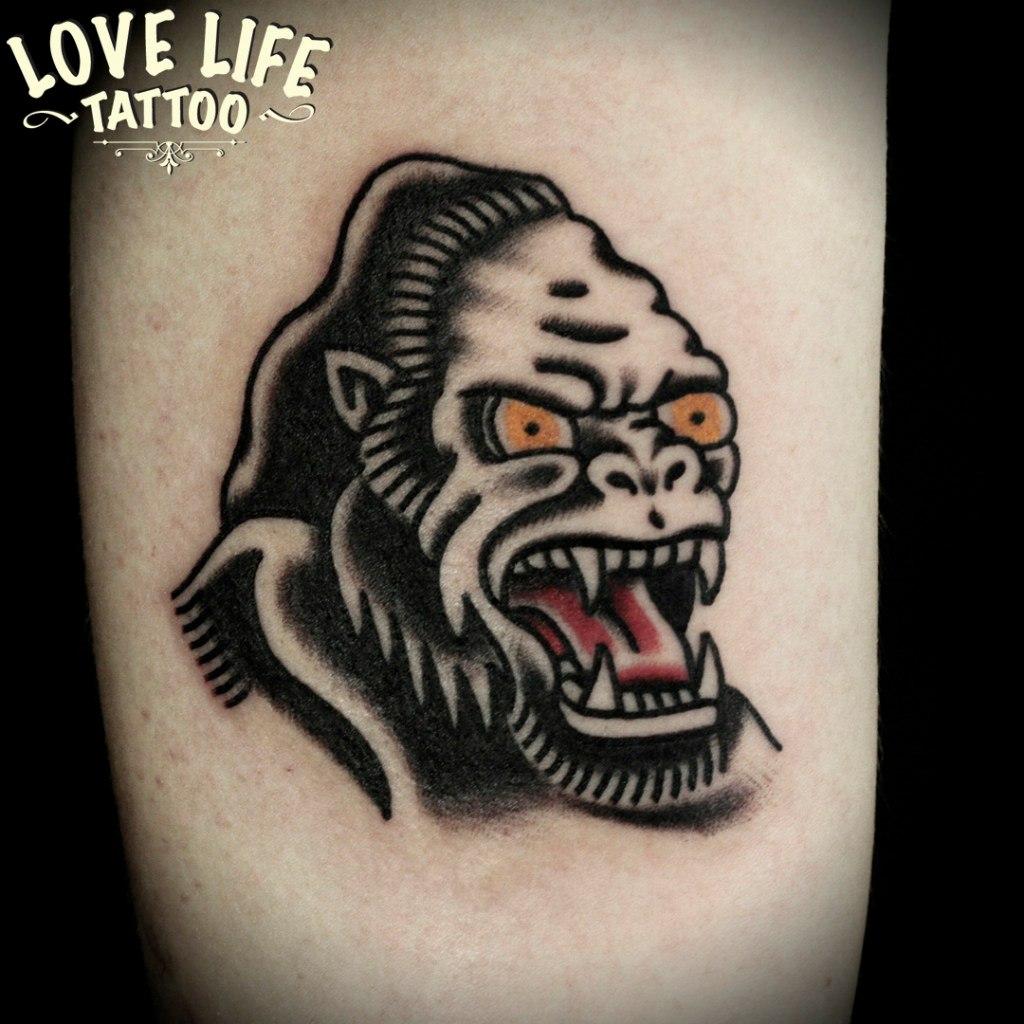 татуировка гориллы