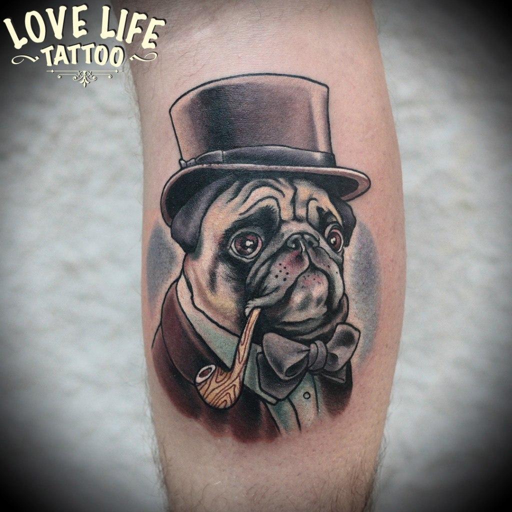 татуировка мопса
