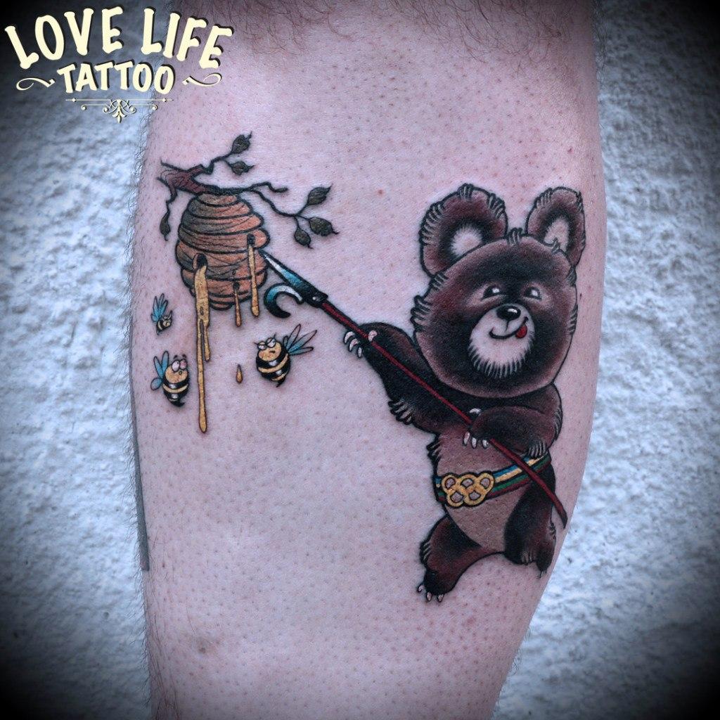 татуировка мишки