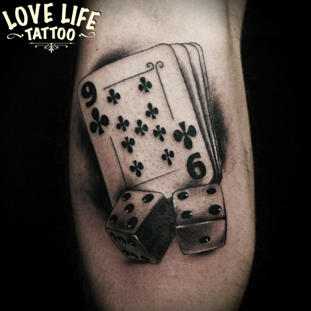 татуировка карт и костей