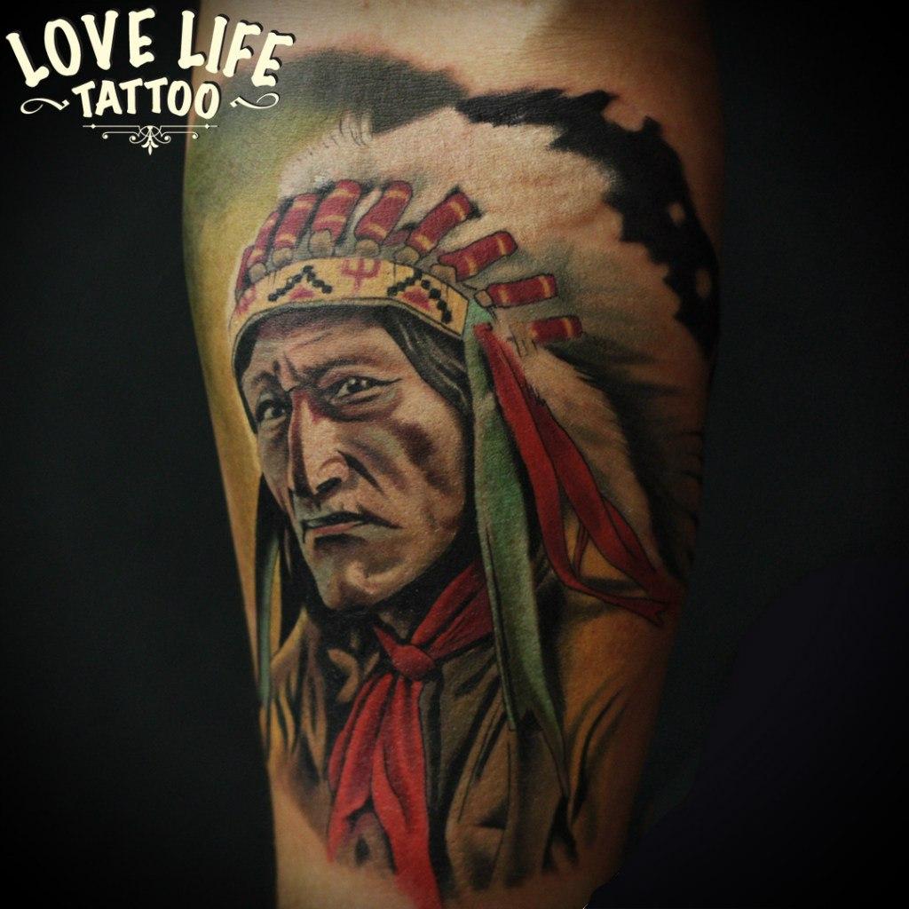 татуировка индейца