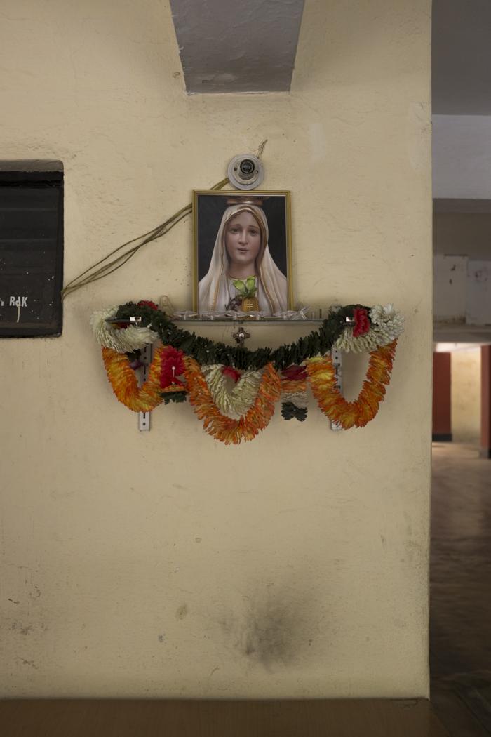 A garage shrine in Bangalore