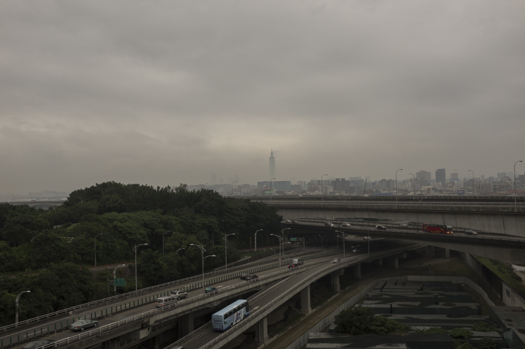 View from our hostel... once the tallest building in the world