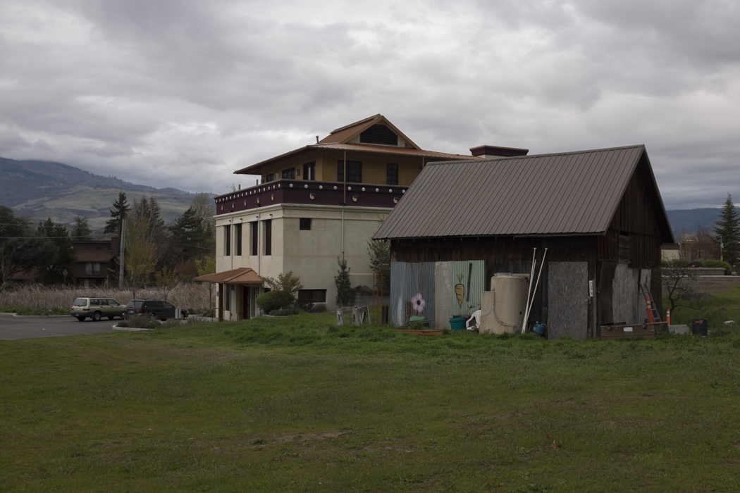 The Buddhist center and neighbor