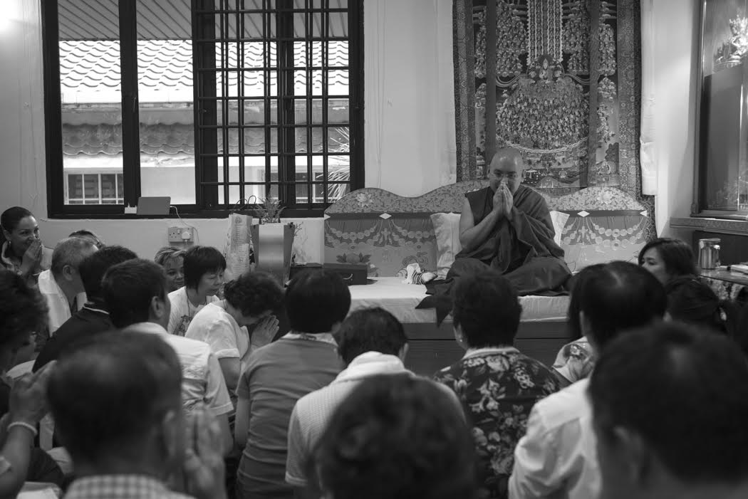 And speaking to the Singaporean students of Buddhism