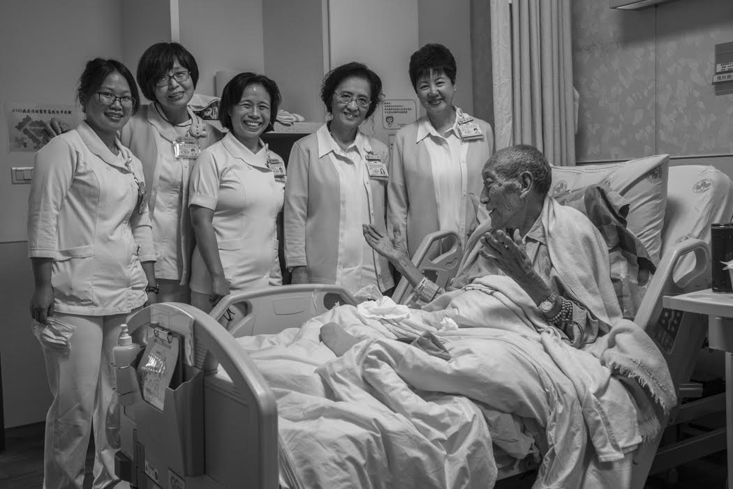 and the Grand General of the hospital's Nursing Staff with her entourage