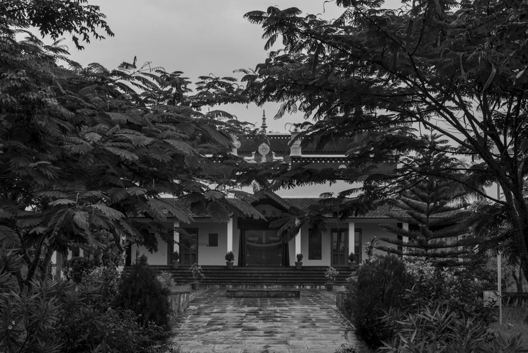 The monastery is overgrown
