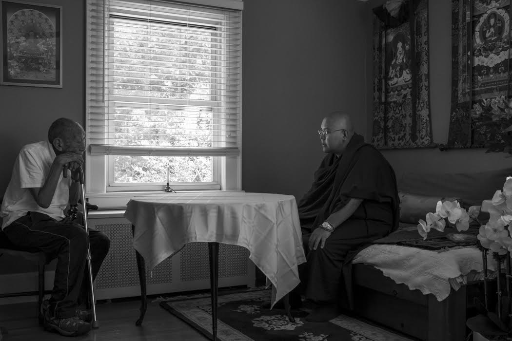 And on to New Jersey where Ling Rinpoche visited Khyongla Rinpoche's home