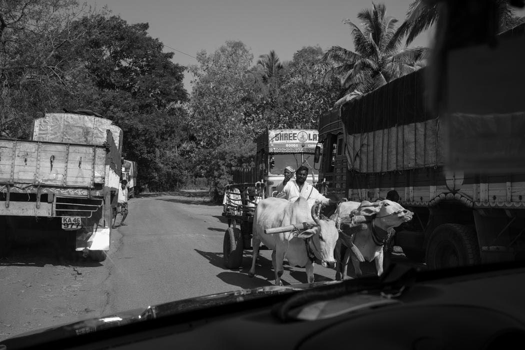 Traffic on the way to Hubli