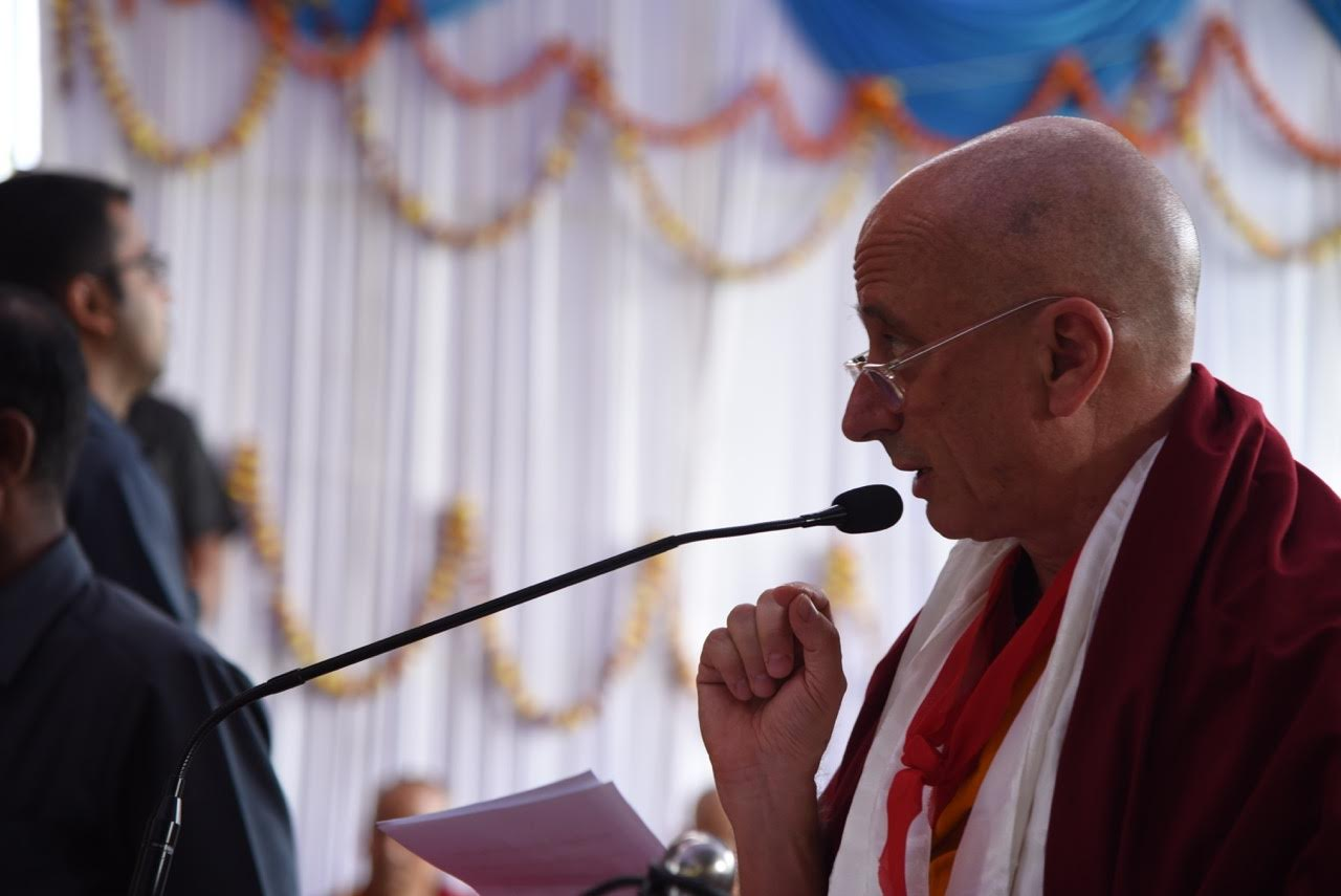I must give a speech, proclaiming His Holiness the patron of Rato Dratsang.  Photo by Tanya Agarwal