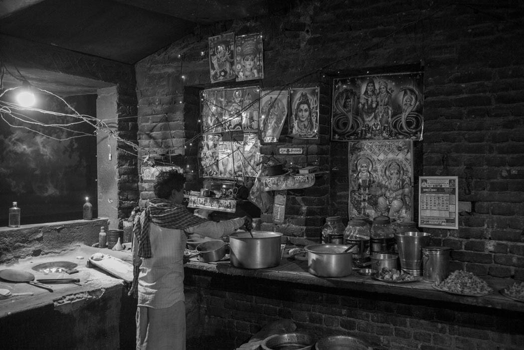 and yet others prepare Shiva-inspired shack-tea and tandoori rotis