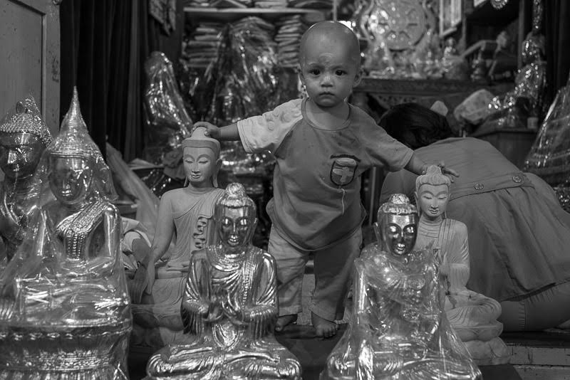 as well as little Buddhas