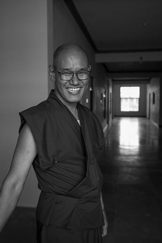 My friends Shartse Khensur Rinpoche in the Trithog Khang