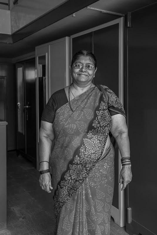 And Madame Siddeshwar, the proud owner of Hubli's finest steel Almirahs.  I love my Siddeshwar almirah and she is happy I do!