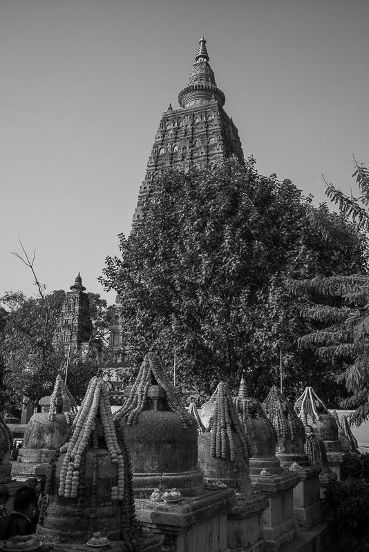 The Mahabodhi Temple and stupas