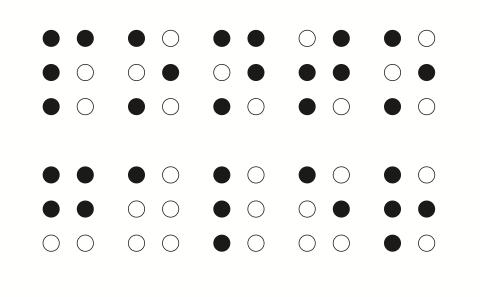Letras em código Braile