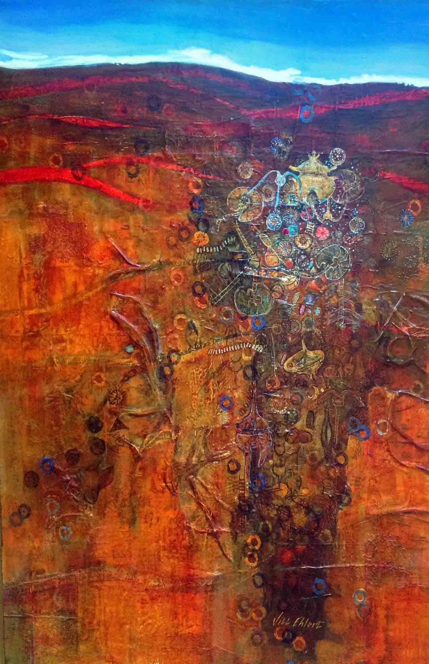 """""""Big World of Small"""" 30"""" x 40""""  © Jill Ehlert - 2009"""