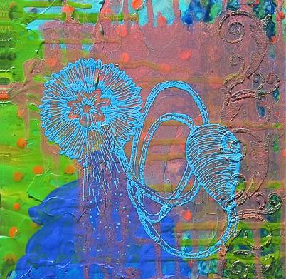 Blue Squirt By Patti Brady
