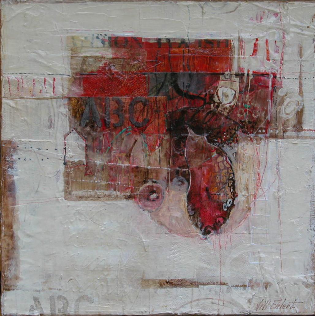 """BECOMING""  - Jill Ehlert  © 12"" X 12"" - Mixed Media on Canvas"