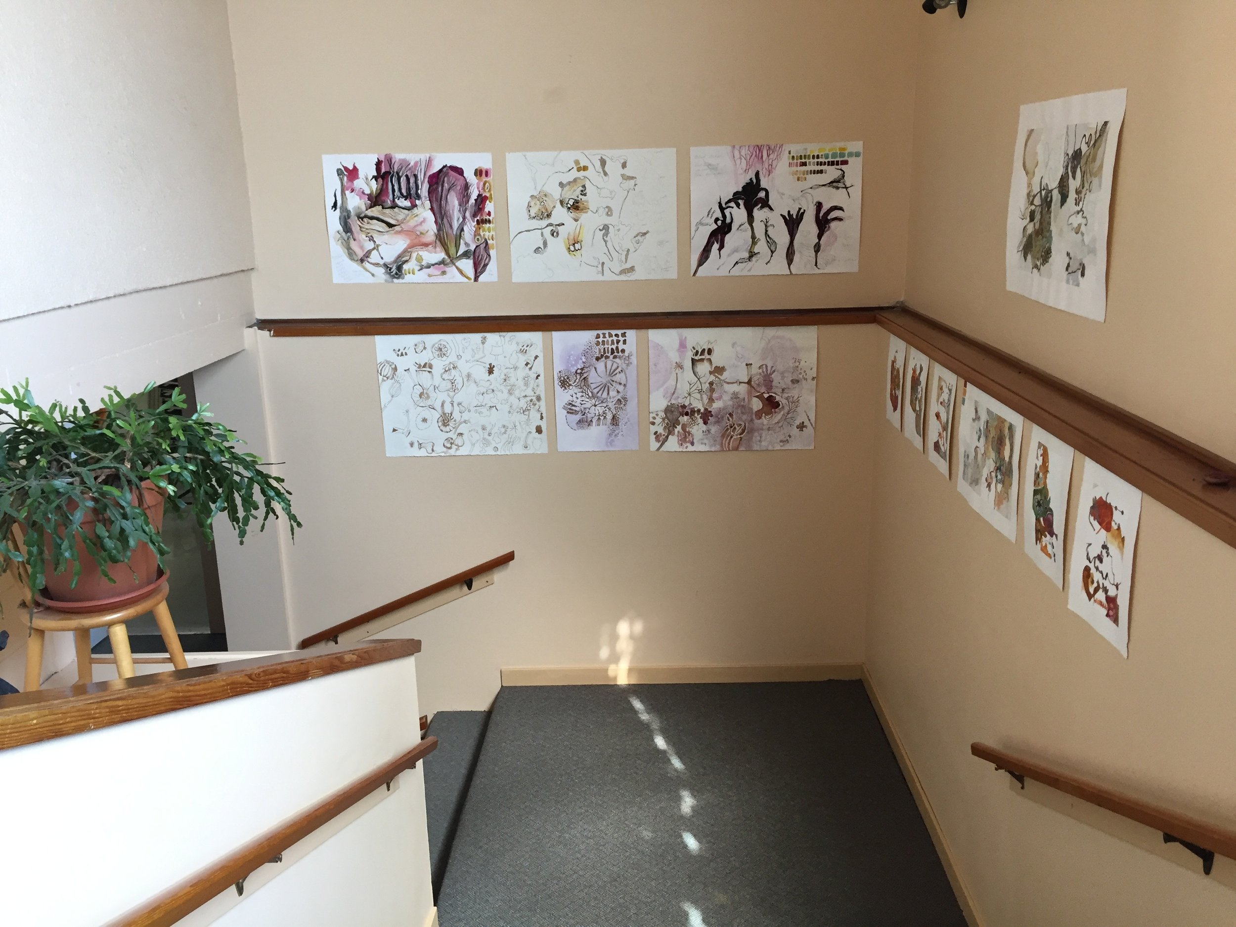 Jill Ehlert in the Stairwell Gallery
