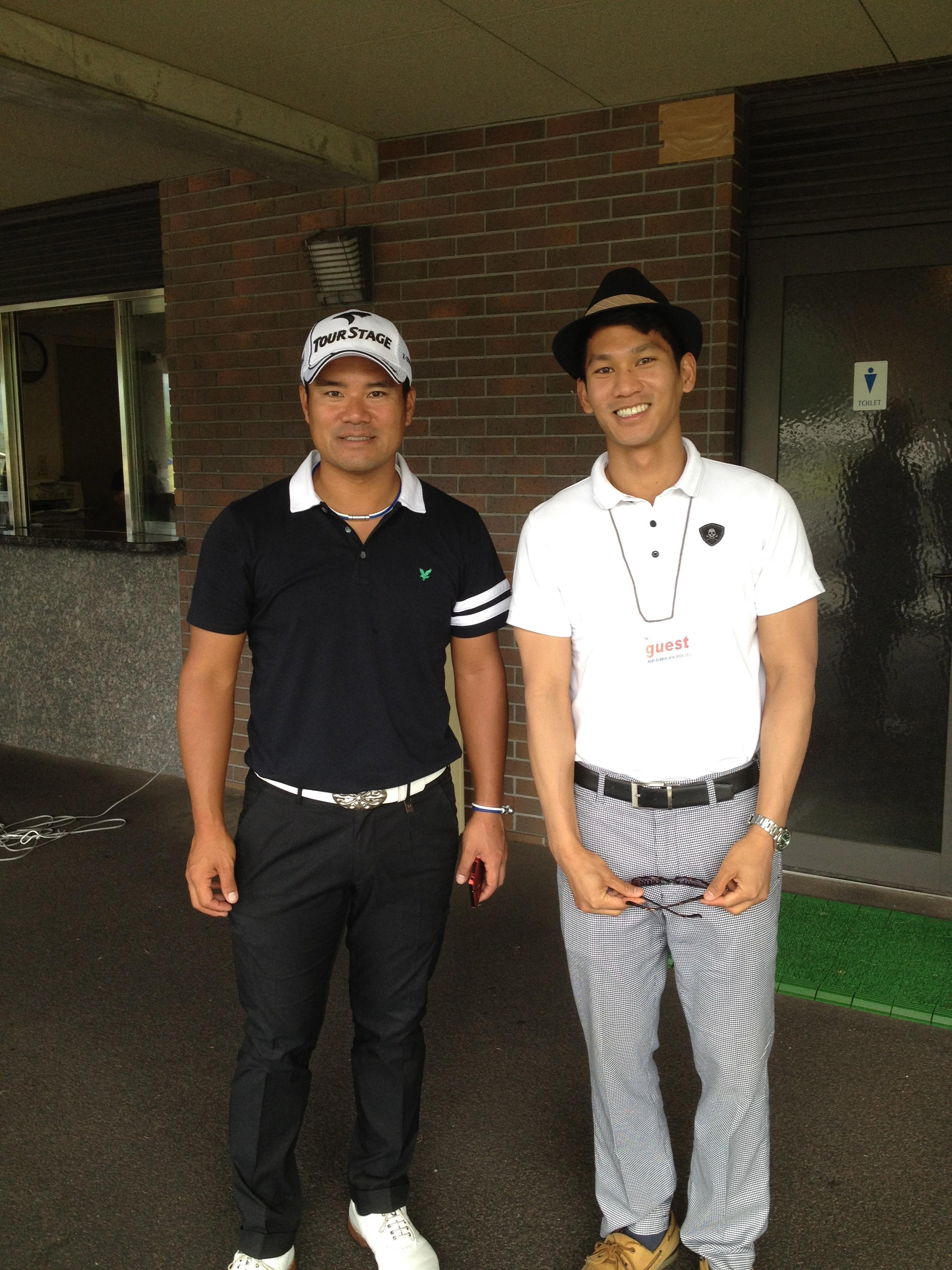 with Yūsaku Miyazato