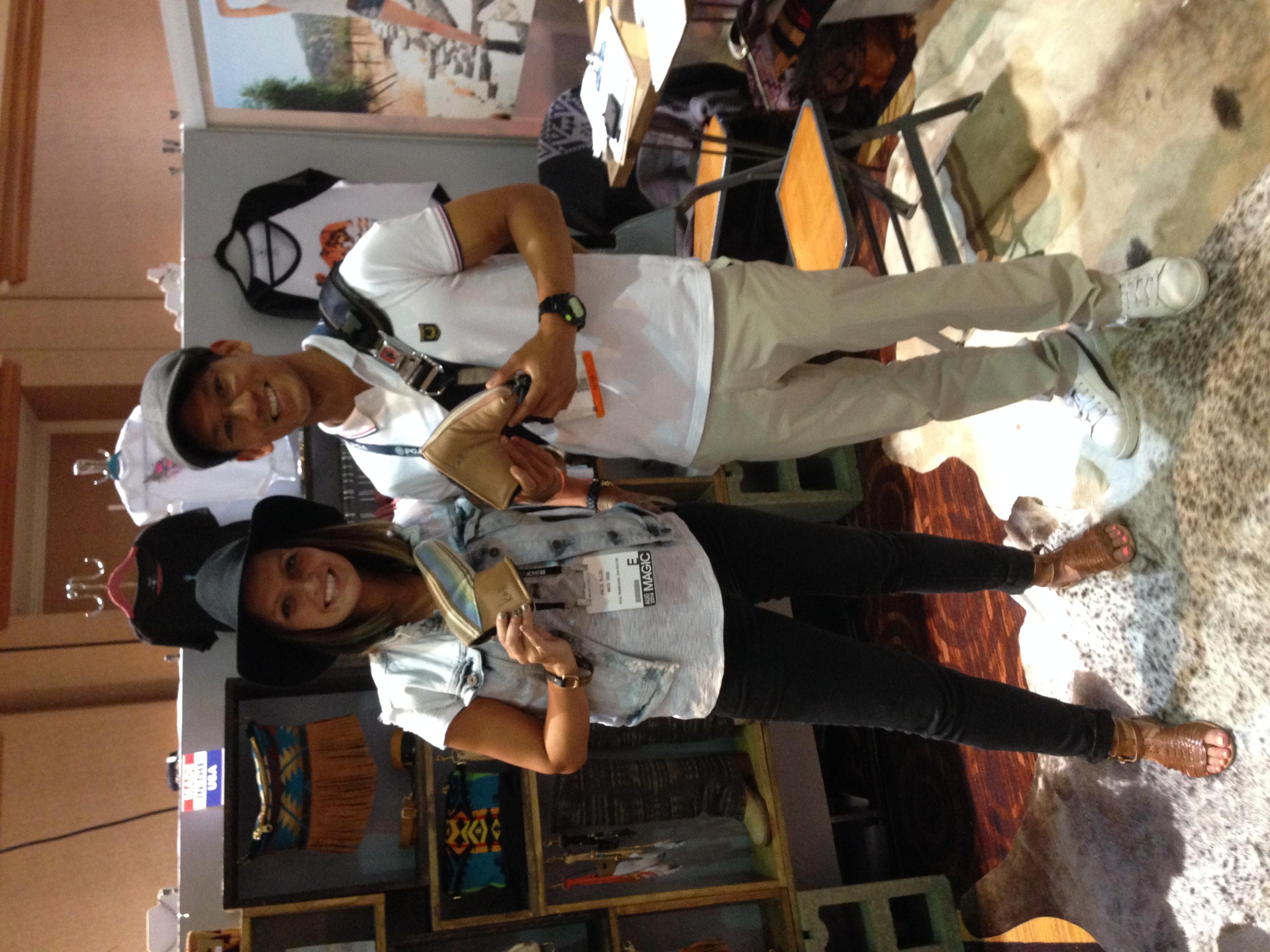 Julie Ellis (RaisCase designer) and Phillip Lapuz at Capsule, Las Vegas