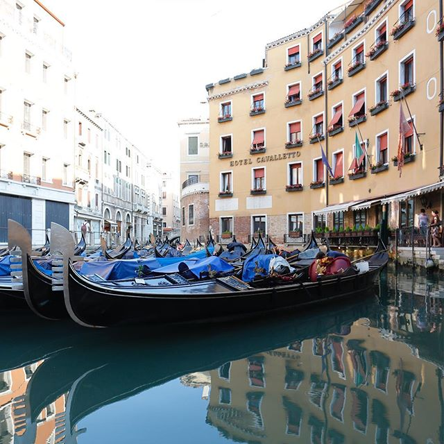 Gondolas. Morning calm before the tourist storm. #iloveitaly #italy