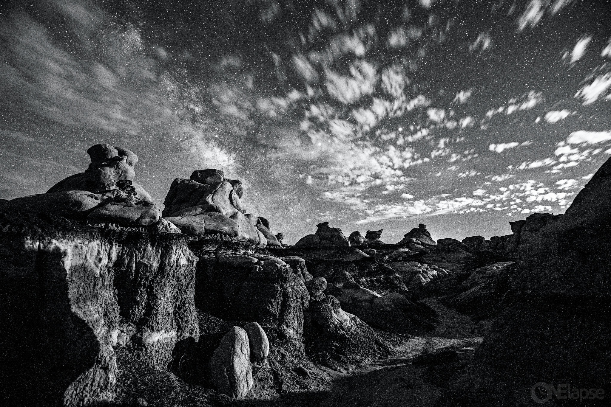Bisti-Badlands Night