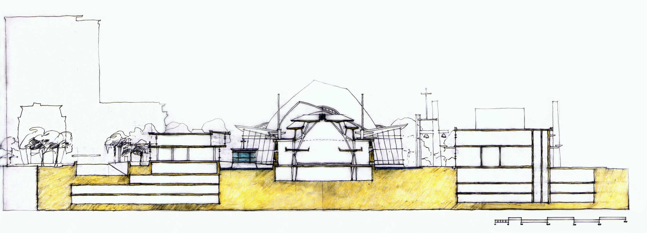 North / South Cross Section Thru Church