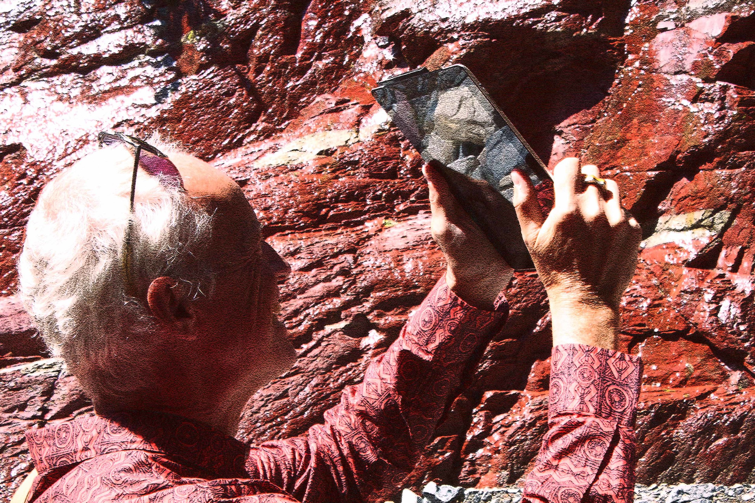 VH photographing in Red Rock Canyon, Alberta, 2013