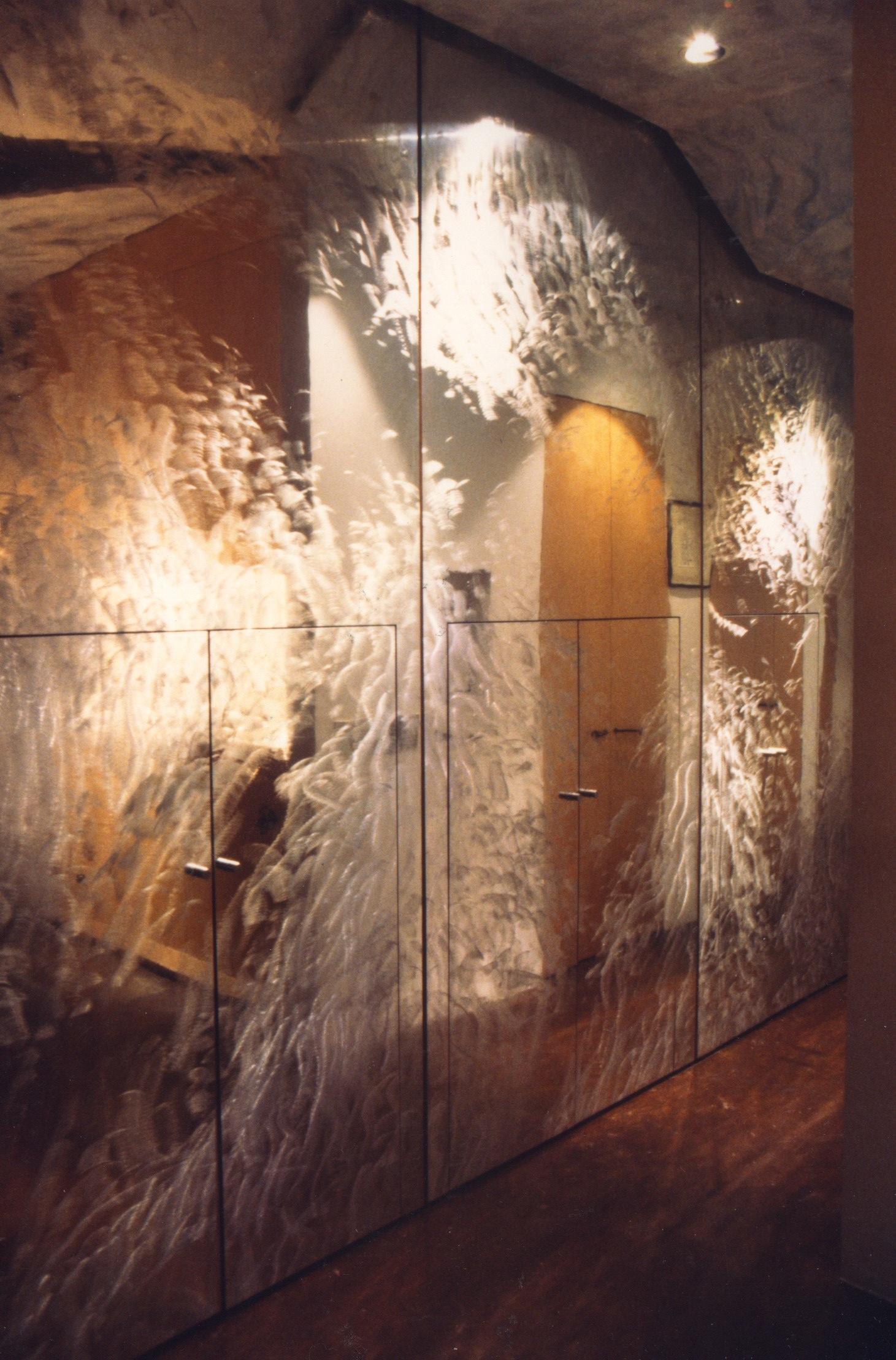 Brushed Aluminum Landscape Wall - Hallway Storage Wall