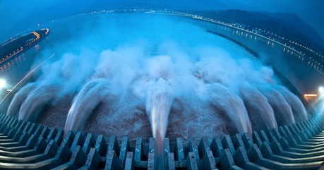 Three Gorges Dam in operation