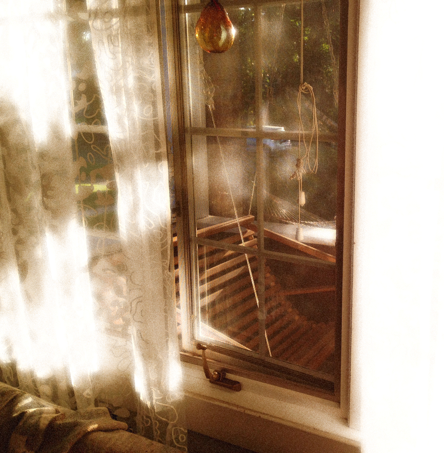 Early Morning Sun Thru Living Room Curtains, VHS 2014-posted July 12, wk 3