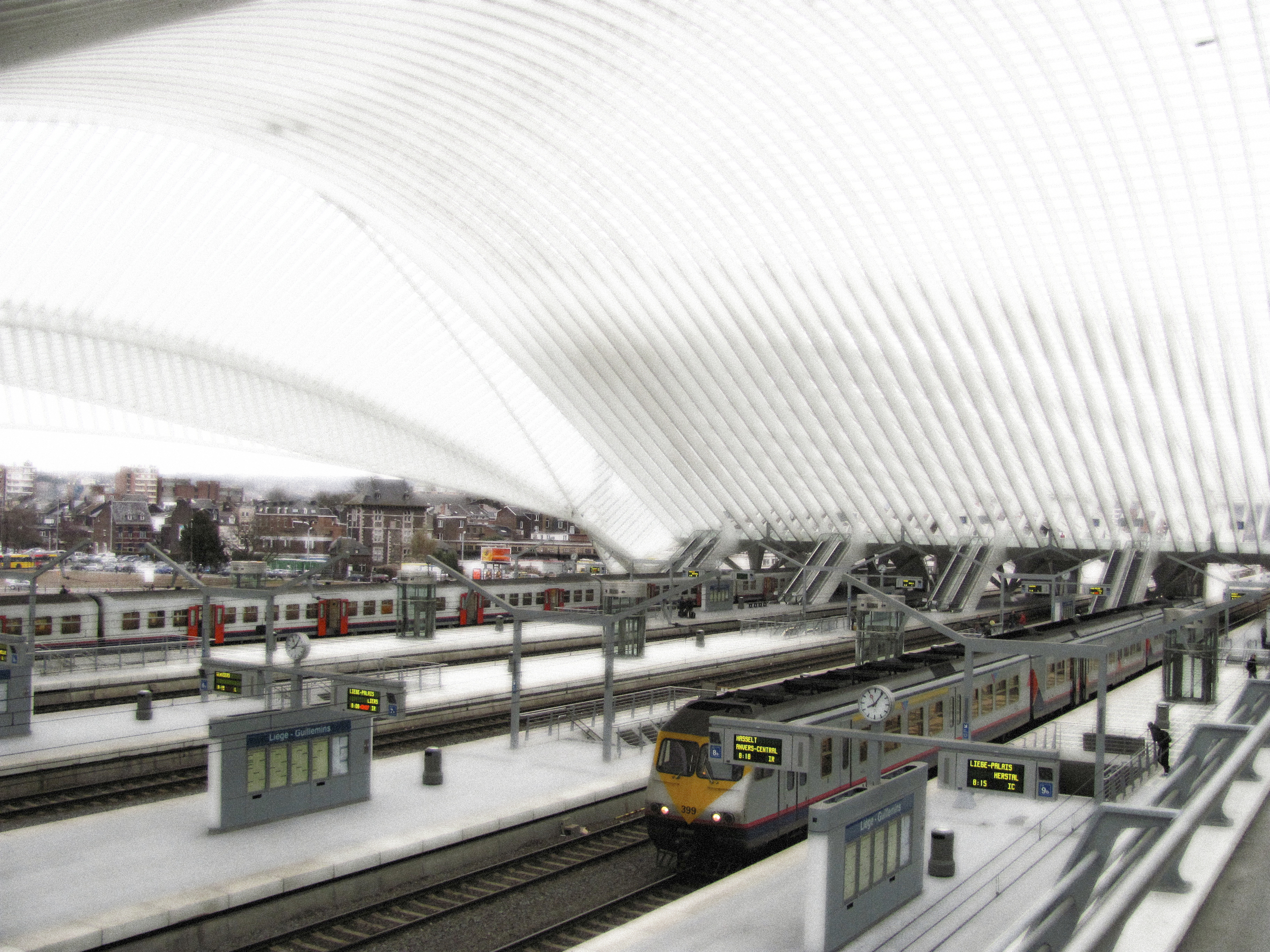 Great Hall 2 Platforms, Train Station, Liege, 2010