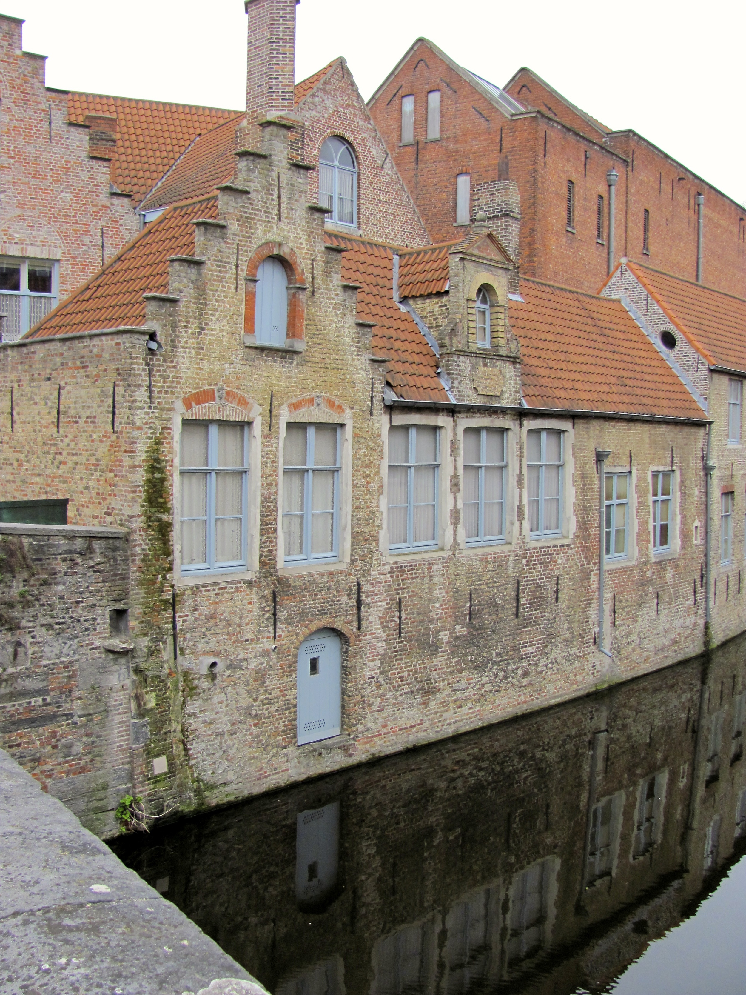 Building facade on canal, Bruges, Belgium, VHS 2010