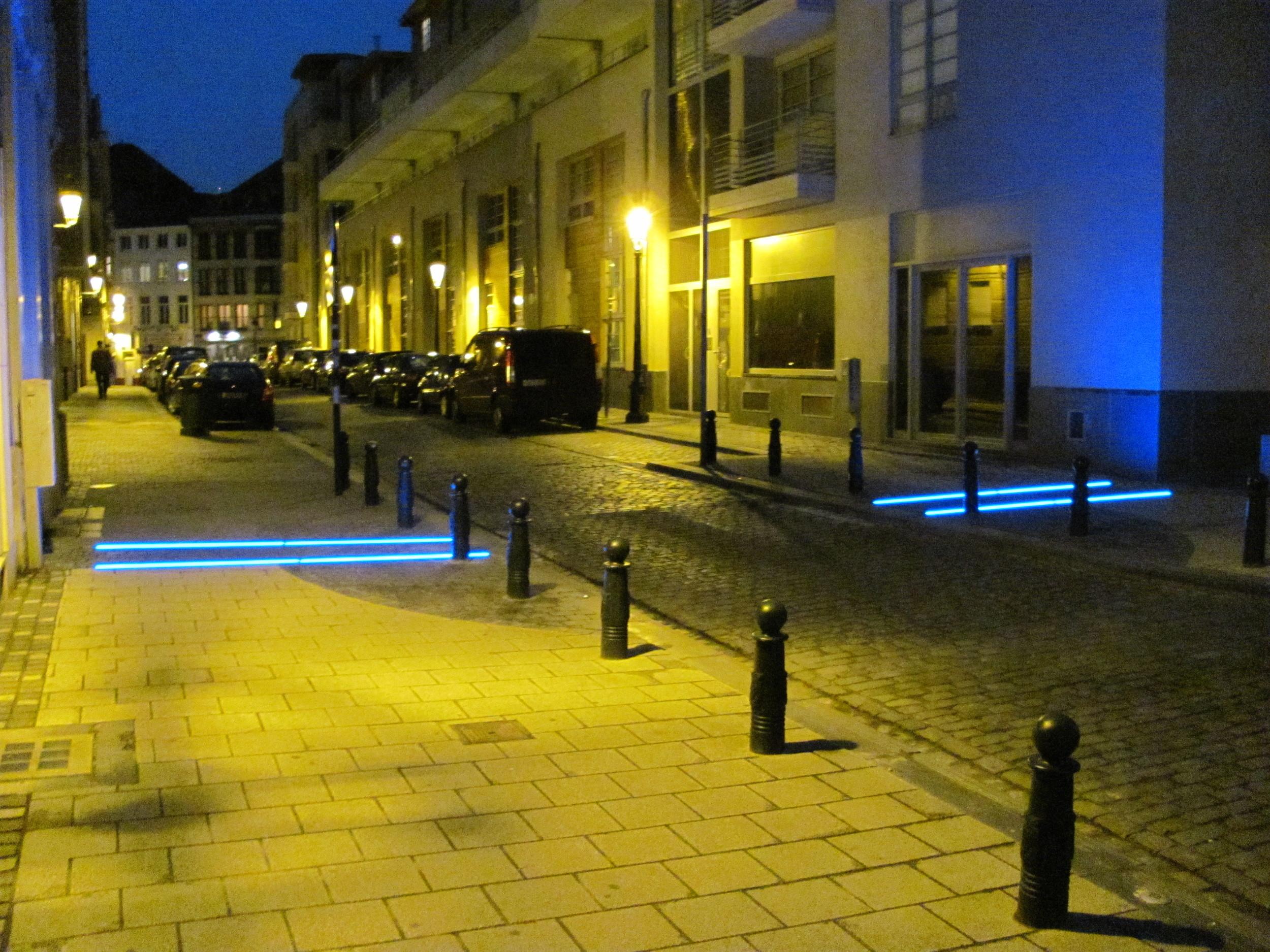 Public Art Installation, Old City, Brussels, Belgium, VHS 2010