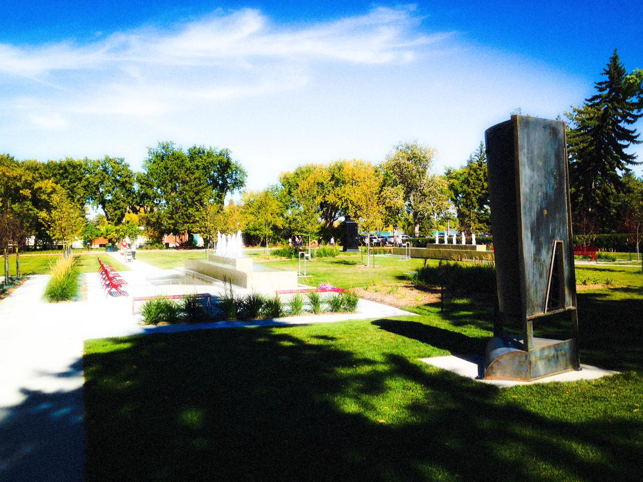 Big Things In The Formal Garden, Borden Park, Edmonton, Alberta, VHS 2014