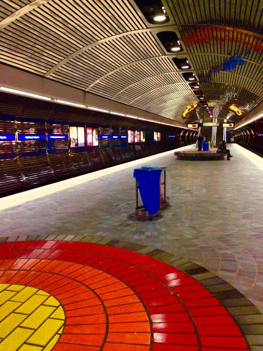 Bay / Enterprise Square LRT Station  Edmonton, Alberta, VHS February,2015