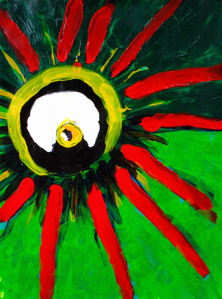 "28 Eye , WA  Acrylic on paper 22"" x 30"" 2008  1 of 3, $600 / Framed"