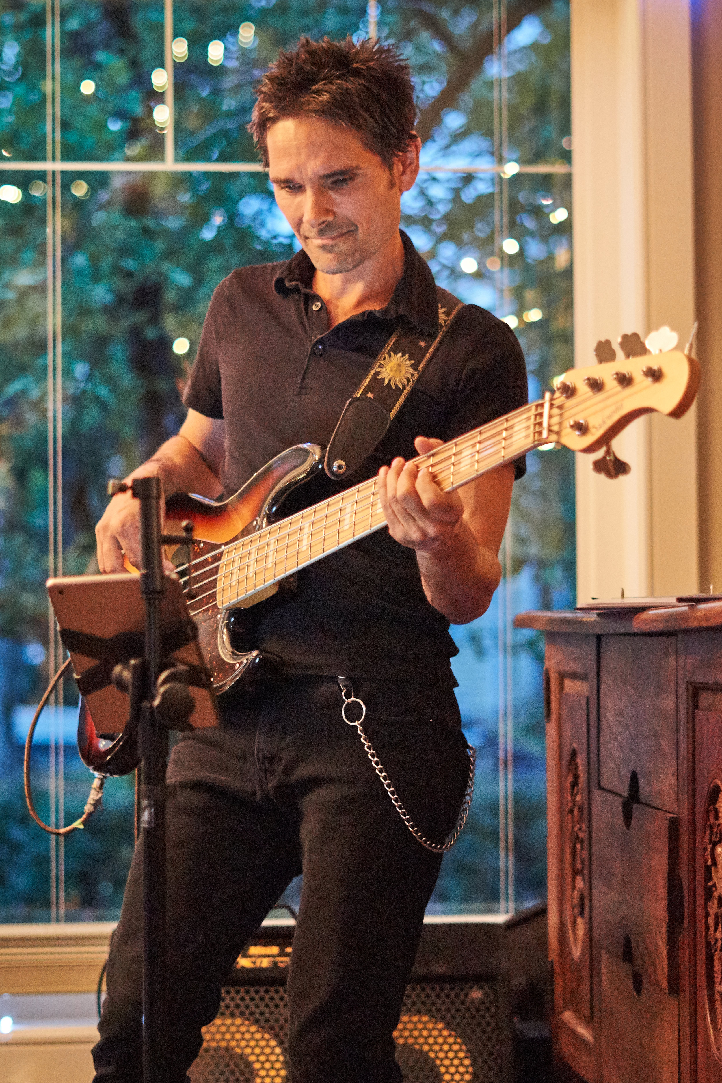 Dustin Roy.....most bueatiful bass.....photo courtesy Lindsey Locke; Northern Sessions