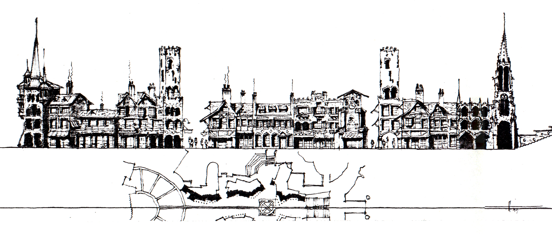 Elizabethan Theme Streetscape