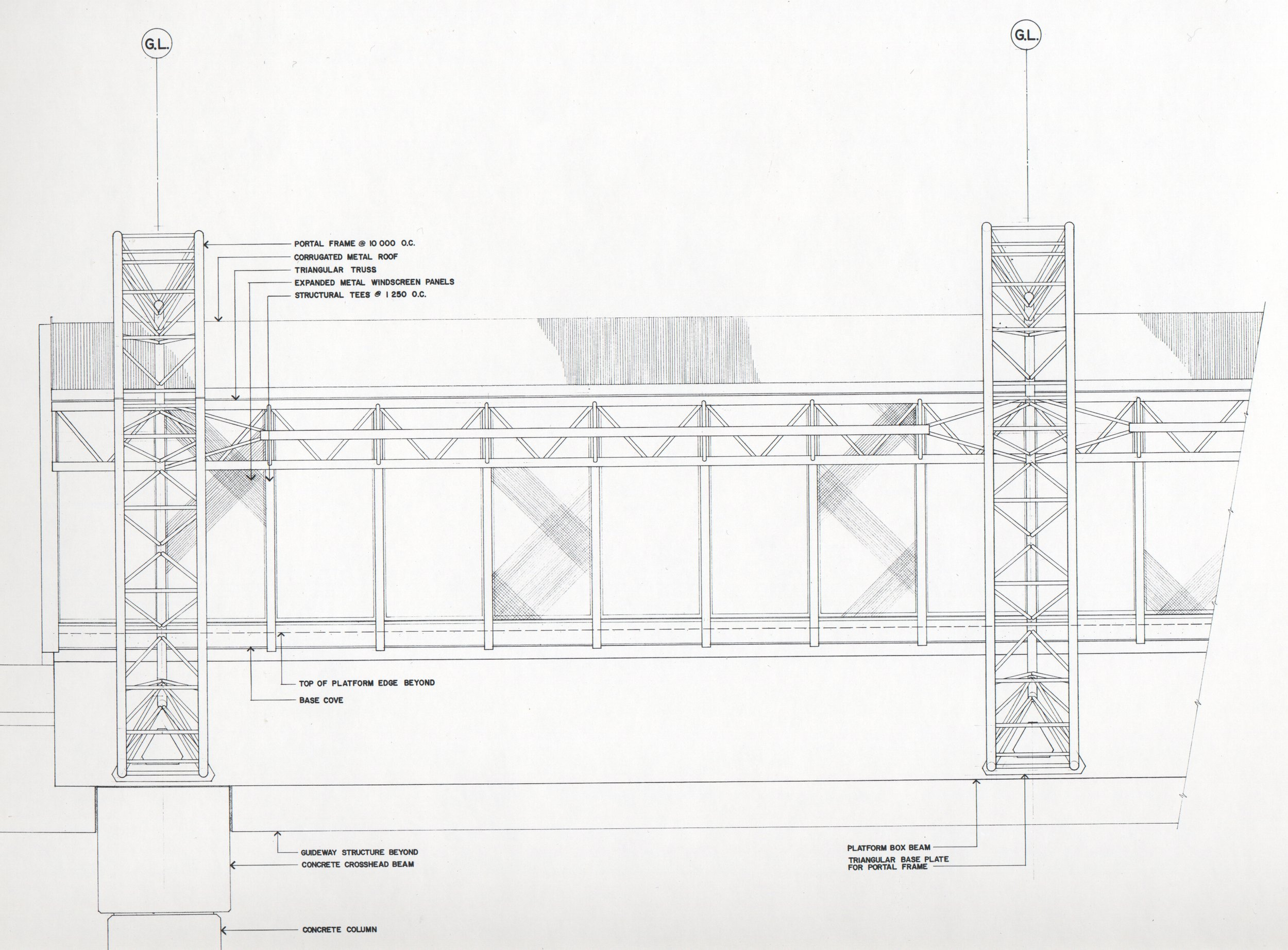 Prototypical Hoop Truss Station Elevation - Overall Systems Design drawing
