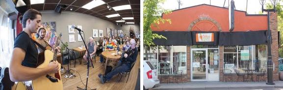 The Carrot Cafe, Edmonton, Alberta - community space precedent