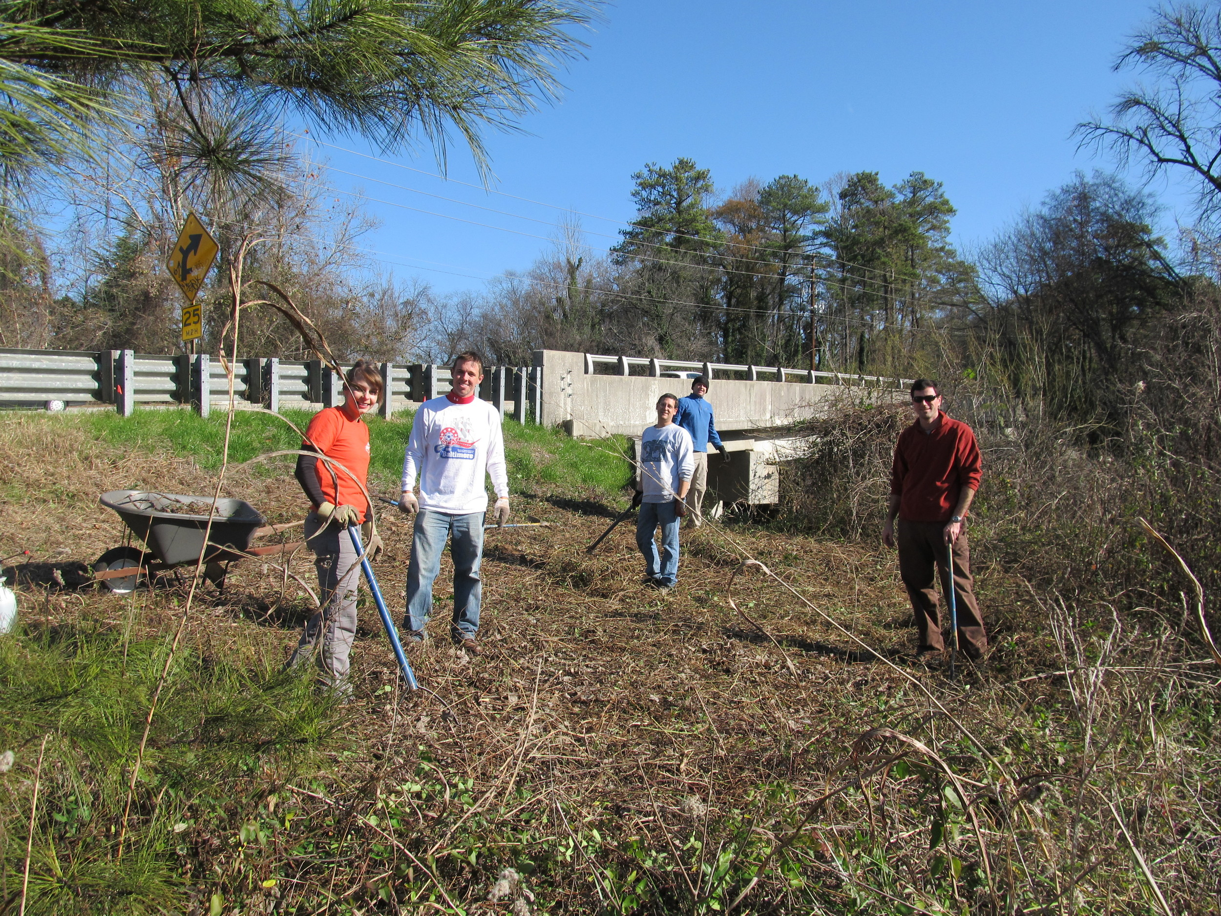 Clearing the Meadow Trail head in 2011
