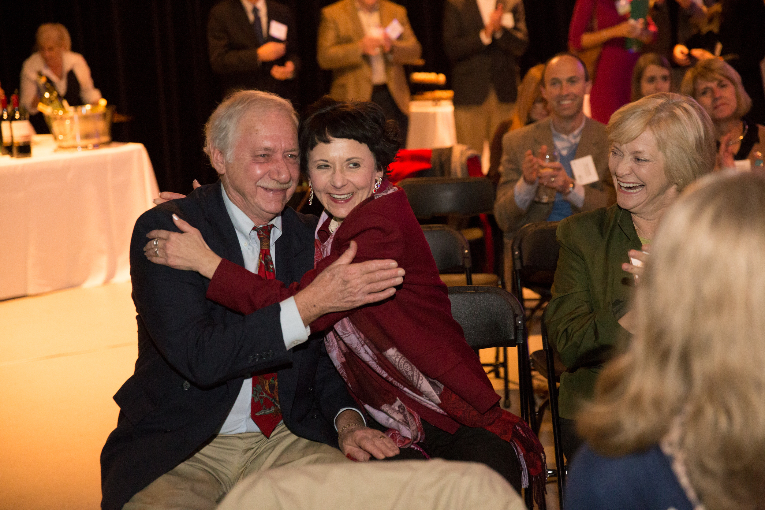Bob and his wife Cindy immediately after the announcement sitting next to a very happy Sally Sears.We are thrilled Bob received the recognition he deserves and that we have received such a generous donation. One of the best parts about this is that it was really all thanks to you for your vote!
