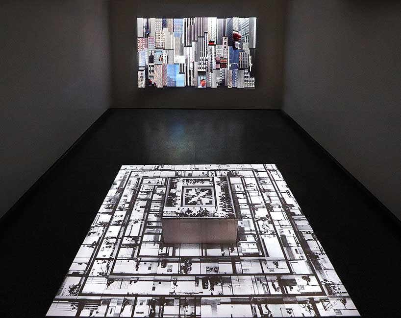"""Installation view of solo exhibition """"In the Shape of a City"""" at Paul Watkins Art Gallery (MN)"""