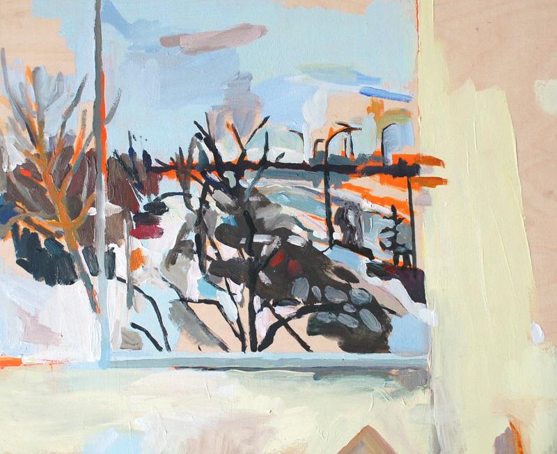 "Window, The North West Company, Acrylic on birch panel, 20"" x 24"", 2012, (series of 15)"