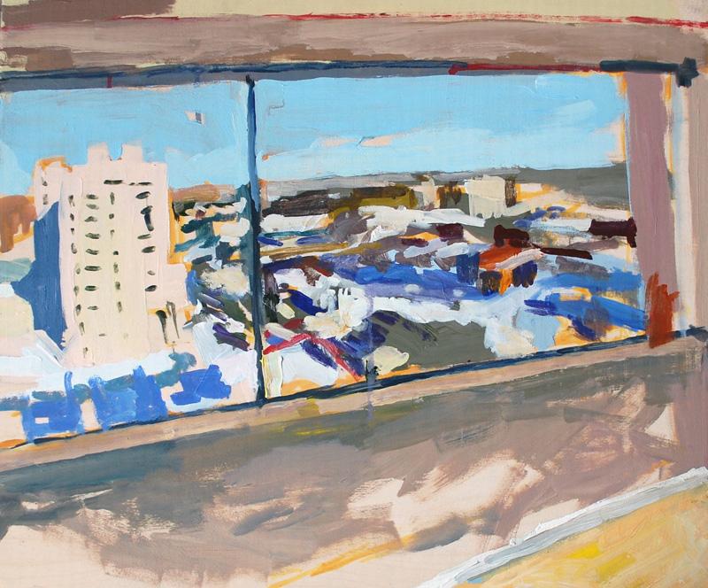 "Window, The Hargrave', Acrylic on birch panel, 20"" x 24"", 2012, (series of 15)"