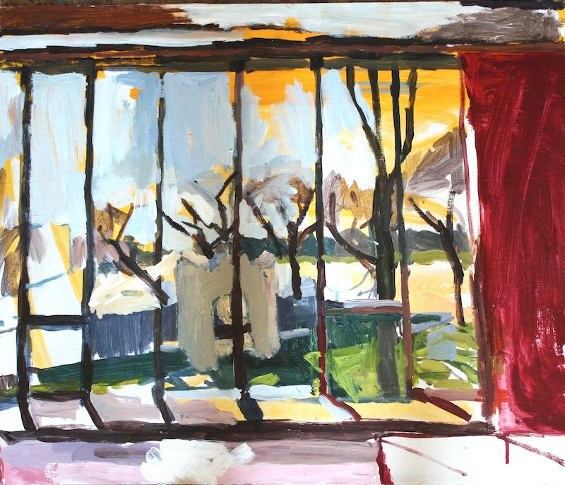 "Window, The Manitoba Club, Acrylic on birch panel, 20"" x 24"", 2012, (series of 15)"