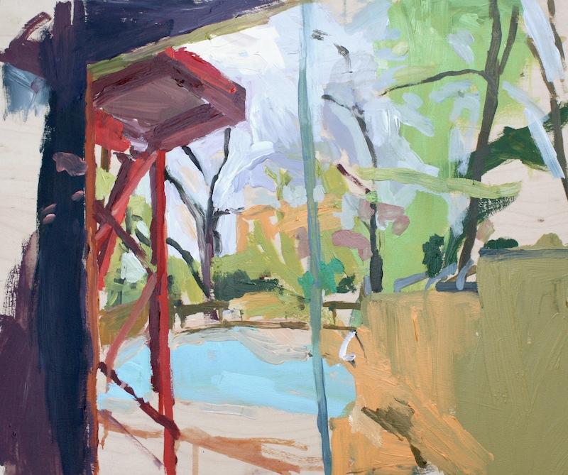 """Window, Weppler CA', 2012, Acrylic on panel, 20"""" x 24"""
